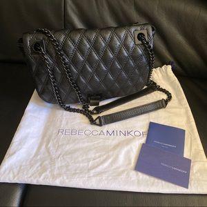 Rebecca Minkoff Leah Black Crossbody Shoulder Bag
